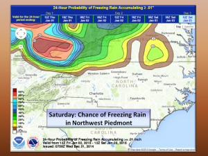 Chance of Freezing Rain in the Piedmont