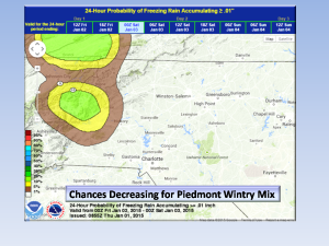 Wintry Mix Chances for Saturday Decreasing.