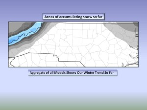 Map 5. Areas that have seen Accumulating Snow this season