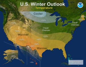 NOAA Temperature Outlook