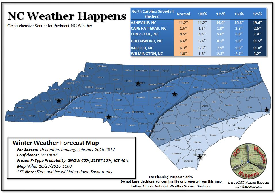 Winter weather outlook for nc 2016 17 nc weather happens Are we going to get snow this year 2016